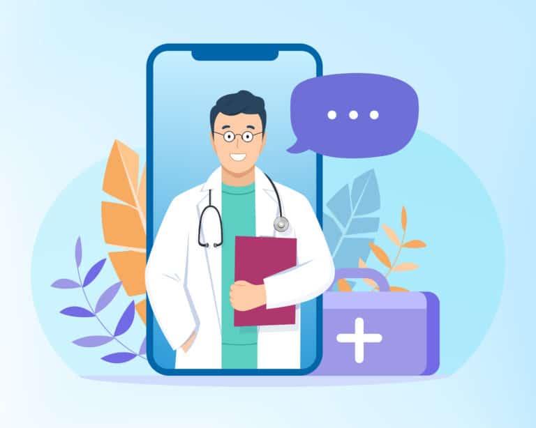 אילוסטרציה של עזרה של רופא
