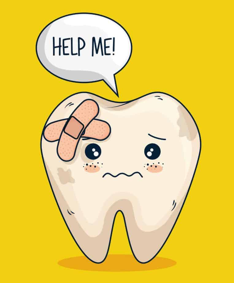 שן צהובה ופגומה מבקשת עזרה